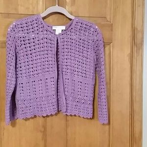 NBW Lavender crocheted cardigan